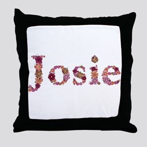 Josie Pink Flowers Throw Pillow
